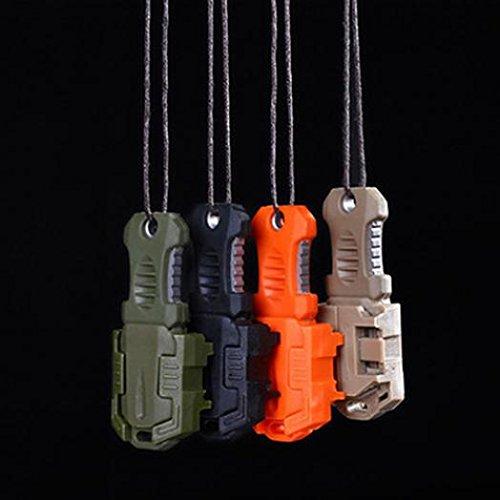 geshiglobal Mini portátil EDC acero inoxidable cuchillo cincha hebilla autodefensa supervivencia herramienta – Deserted