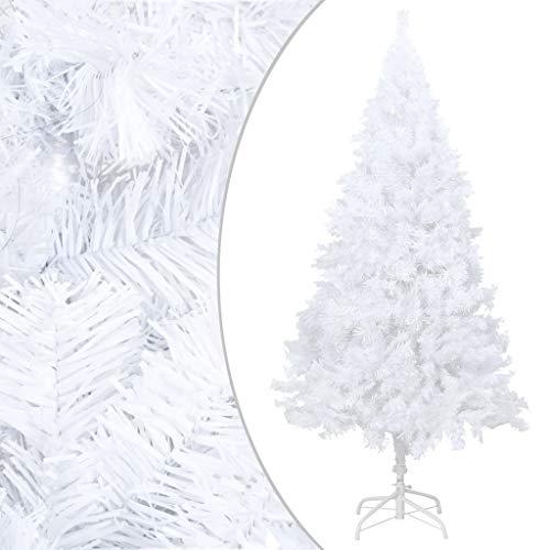 vidaXL Sapin de Noël artificiel avec branches épaisses Blanc 210 cm PVC