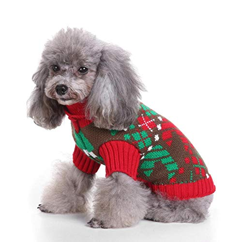 Pet Sweater, Winter Warm Christmas Coltrui Kleding Outfit Suit Dress For Dog Cat Puppies (XL)