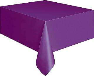 """Dark Purple Plastic Tablecloth, 108"""" x 54"""""""