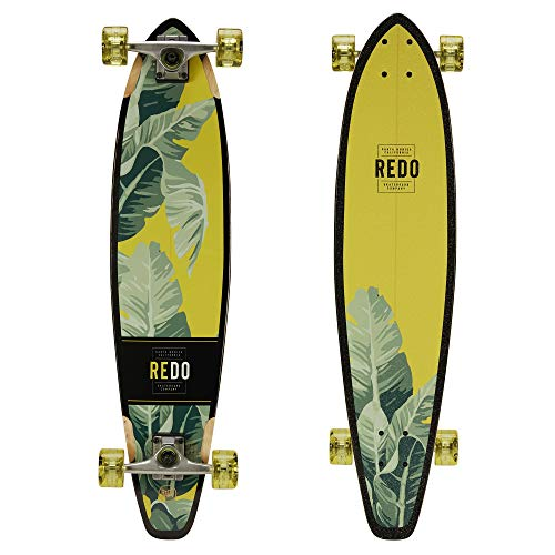 "ReDo Skateboard 34.5"" x 8"" San Diego Palms Longboard Complete Skateboard for Boys Girls Kids Adults"