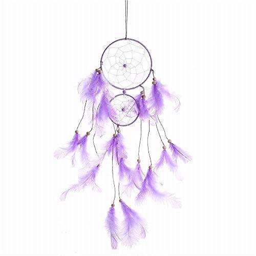 CYGJ Tela para Atrapasuenos Púrpura Cazador de Suenos Decoracion Hecho a Mano Manualidades Atrapasuenos para Adivinación Scrying Dowser,11x45cm