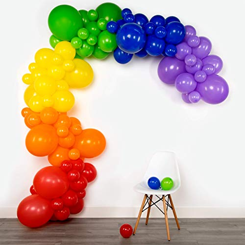 Lunar Bliss 16 ft Balloon Arch & Garland Kit | 102 Balloons, Rainbow | Birthday Party Decorations, Baby Shower (Rainbow)