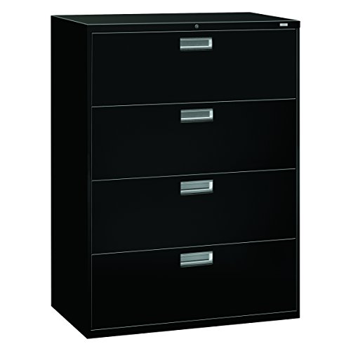 HON 694LP 600 Series 42-Inch by 19-1/4-Inch 4-Drawer Lateral File, Black