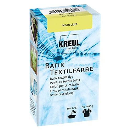 Kreul 98521 - Batik-Textilfarbe Neon Light, 70 g, Farbpulver zum Batiken und Färben von Textilien