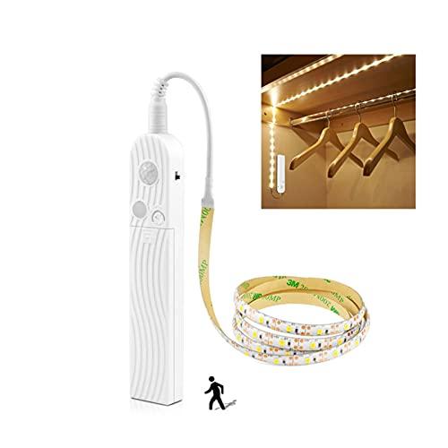 Luces LED del sensor de movimiento para el dormitorio USB Lámpara LED COCINA DE COCINA DE COCINA DE COCHERNET CLOSET Gabinete Tira de luz de retroiluminación TV luces Iluminación Gabinete Noche Luz de