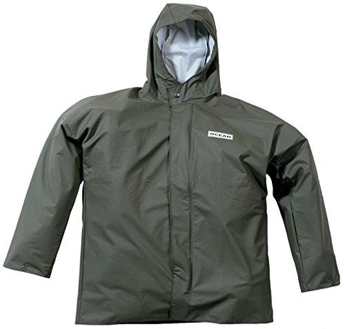 Ocean Rainwear Damen Herren Regenjacke Comfort Heavy Segeljacke, Farbe:Oliv, Größe:M