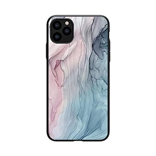 Estuche con patrón de mármol de Acuarela para iPhone 11 Estuche Pintado con Tinta Suave de TPU para iPhone 12 Pro XR 7 8 6 6S Plus X XS MAX SE 2020 Shell, b, para iPhone 11 Pro