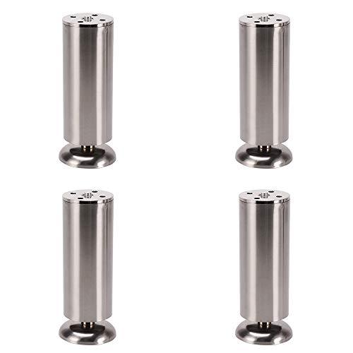 Suppating Voeten van roestvrij staal, sterk en duurzaam, sterke draagkracht, 10 cm ~ 30 cm, zilver/wit/zwart, sofabeine/theepoten
