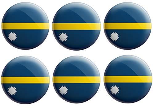 AK Giftshop Nauru Flaggen-Anstecker – Partytütenfüller – Events – Feiern – Sammler – Dekorationen – Sockenfüller (12 Stück)
