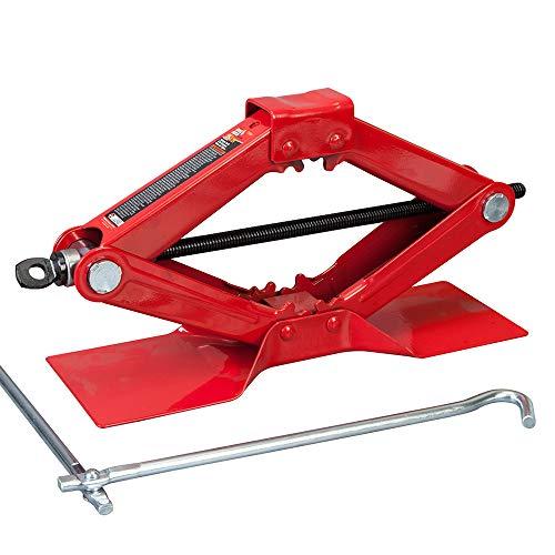 Torin Big Red Steel Scissor Jack, 1.5 Ton (3,000 lb) Capacity
