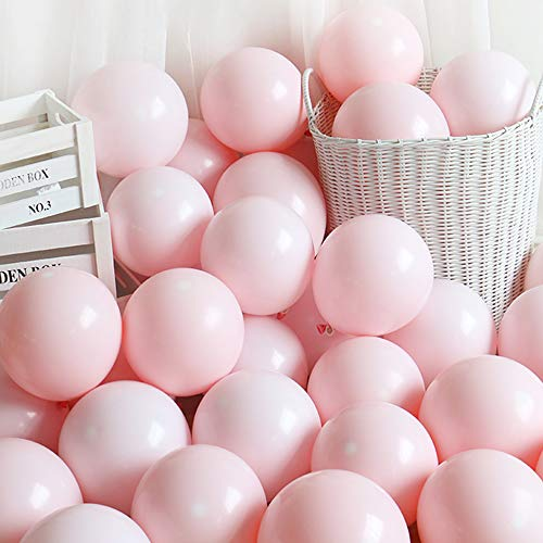 5 Inch Mini Pink Party Pearl Balloons,200 pcs Light Pink Macaron Latex Balloons for Birthday Wedding Engagement Anniversary Christmas Festival Picnic or any Friends & Family Party Decorations Supplier