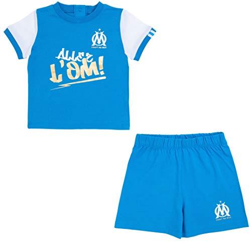 OLYMPIQUE DE MARSEILLE T-Shirt + Short Om bébé - Collection Officielle Taille garçon 12 Mois