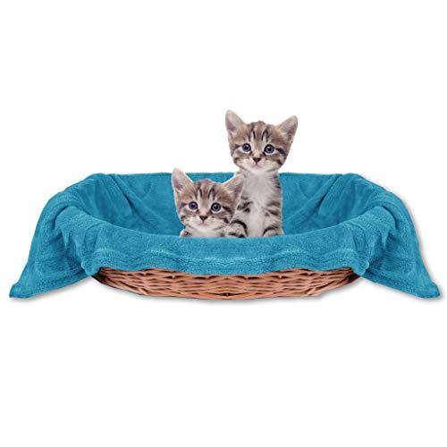 Bestlivings Haustierdecke Katzendecke Kuscheldecke Tierdecke, angenehm und super weich in vielen erhältlich (90x140 cm/aquablau - türkis)