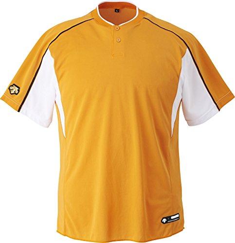 DESCENTE(デサント) ジュニア 野球 2ボタンベースボールシャツ JDB104B オレンジ×Sホワイト×ブラック(ORSW) 150