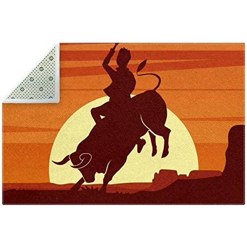 Rodeo Clipart Tapis de sol doux antidérapant pour décoration d