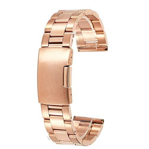 Uhrenarmband verstellbares Edelstahlnetz Ersatz Uhrenarmband Atmungsaktiv und wasserdicht Uhrenzubehör 18mm 20mm 22mm,RoseGold-28mm