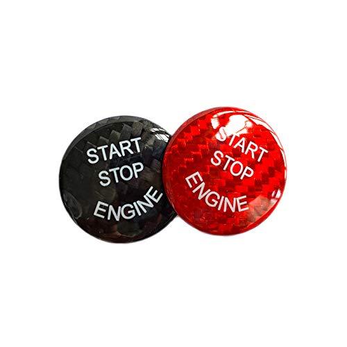 zzwllong Etiqueta engomada del botón del Interruptor de Arranque y Parada de Encendido del Motor del Coche 1 Uds, para BMW F25 F26 F01 F02 F04 F06 F12 F10 1 3 Serie E70 E90