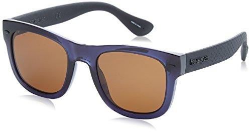 Havaianas Sunglasses Paraty/L 9N7, Occhiali da Sole Uomo, blu-nero con lenti marroni, 52