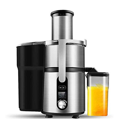 WERCHW Juicer Centrifugal Juicer Máquinas, Jugo y Extractor Vegetal 5-Velocidad, Exprimidor Centrífugo Big Boca, Fácil de Limpiar, Motor silencioso, Pies and-Slip, Free BPA