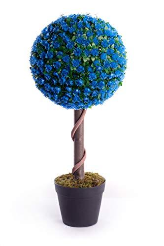 Künstliche Rosenkugel, 60 cm, für Garten, Büro, Wintergarten, tropisch, für drinnen und draußen