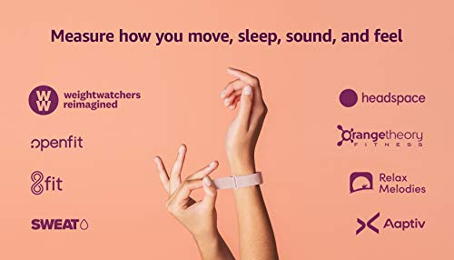 Amazon Halo Band – Measure how you move, sleep, and sound – Designed with privacy in mind - Blush + Rose Gold - Small