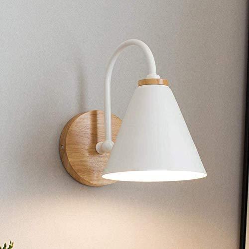 Wandlamp Interieur Muur Simple Corridor Bedlampje Wandlamp Voor Living Room Interior Binnenlandse Gang Studio Studio Lamp Decoratieve Lamp,White