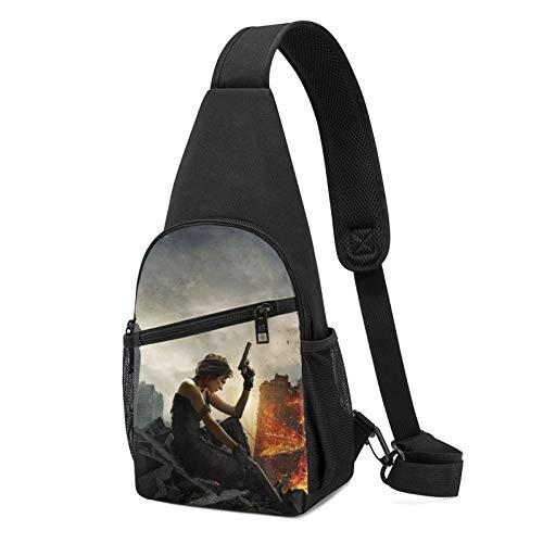 Resident Evil - Bolsa de hombro cruzada para niños, bolsa de cintura para deportes, viajes, senderismo, casual, cremallera ajustable.