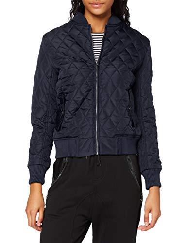 Urban Classics Damen Ladies Diamond Quilt Nylon Jacket Jacke, Blau (Navy 155), 38 (Herstellergröße: M)