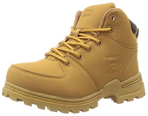 Fila Ascender 2 Hiking Shoe (Little Kid/Big Kid), Wheat/Espresso, 6 M US Big Kid