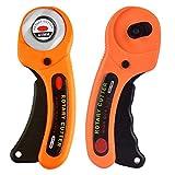BESLIME Rotary Cutter, Cortador Giratorio Cortadores Redondos de 45 mm, botón de seguridad, se puede utilizar para sastrería, corte de papel, tela, cuero, taburetes de plástico