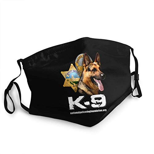 Unisex Reusable Face Mask K-9 with Police and Sheriff Badges Anti Dust & Washable Face Mask For Women And Men