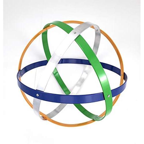 Genesa Crystal, Purificatore energia, Dispositivo orgonico 32 cm diametro, Blu, Argento, Giallo e verde