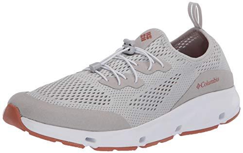 Columbia Men's Vent Sneaker, Grey Ice/Island Orange, 9.5 Regular US
