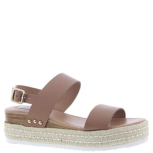 Price comparison product image Steve Madden Women's Catia Wedge Sandal Natural Leather 7.5 M US