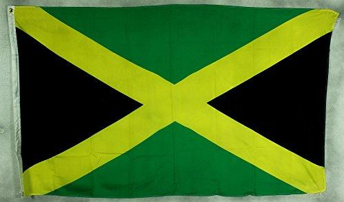 Bandera de Jamaica Bandera 90x 60cm, impermeable y resistente a la luz para interior y exterior