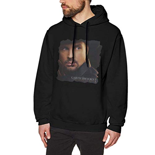 WgAmin Christmas Gifts Uomo Felpe con Cappuccio Felpe con Cappuccio a Maniche Lunghe con Grafica Stampata for Men Teen Evmjser Garth Brooks The Ultimate Hits M