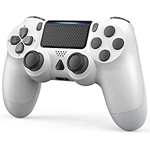 YCCTEAM Wireless Game Controller Compatible with PS-4 Console/iOS 13 /Android 10 /MAC/PC (White) from Yccteam