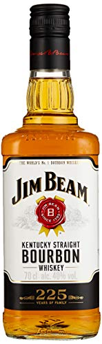 Jim Beam White Kentucky Straight Bourbon Whiskey, vollmundiger und milder Geschmack, 40% Vol, 1 x 0,7l