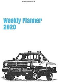 Weekly Planner 2020: calendar organizer agenda for motor enthusiasts. 8.5