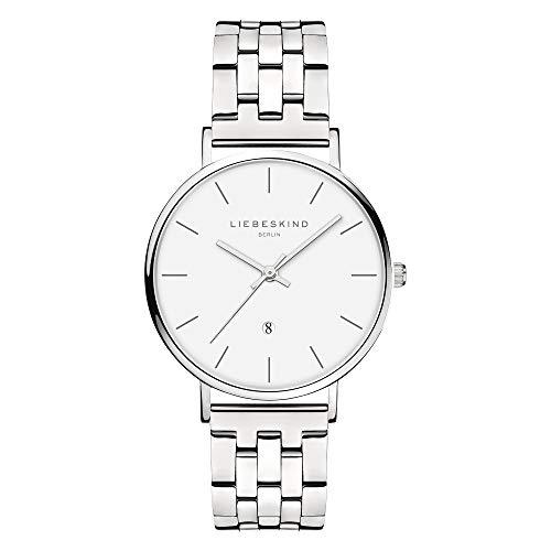 Liebeskind Berlin Damen Analog Quarz Uhr mit Edelstahl Armband LT-0211-MQ