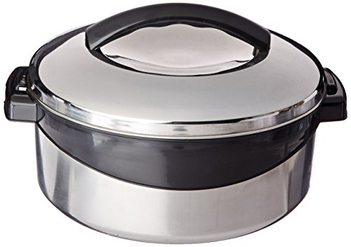 Milton Regent Hot Pot Insulated Casserole Keep Warm/Cold Upto 4-6 Hours, Stainless Steel, 2.5 Liter