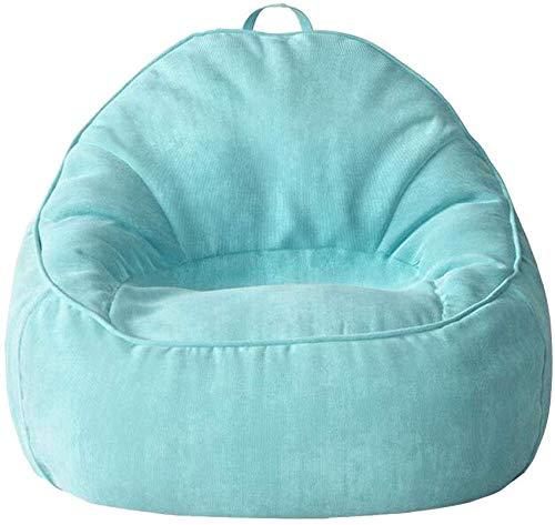 WYJW Adult Highback Sitzsack, Riesen Cord Stoff Liege Liege Sitzsack Boden Kissen Sitz Schlafsofa für Wohnzimmermöbel-Blau