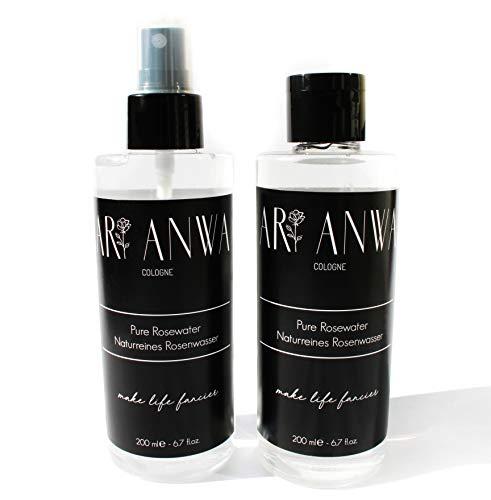 ARI ANWA Skincare ® Puur rozenwater spray met rozenkwarts kristallen - ARI ANWA Skincare - hoogwaardig en natuurlijk in glazen fles | echt rozenwater