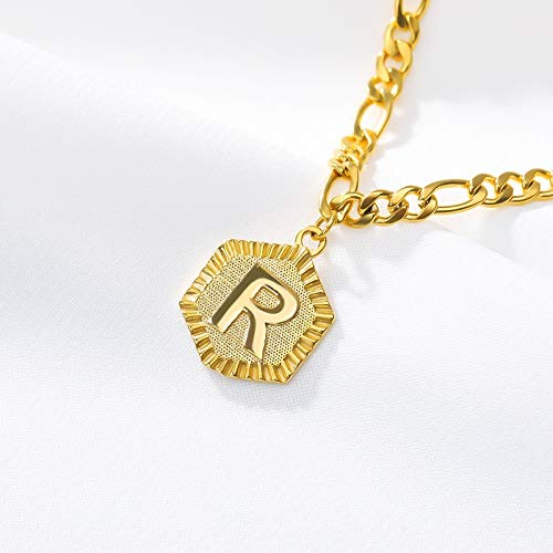 ZBXCVZH Initial Letter Anklet For Women Stainless Steel Anklets 21cm + 10cm Extender Gold Chain Alphabet Foot Accessories Jewelry (Metal Color : R)