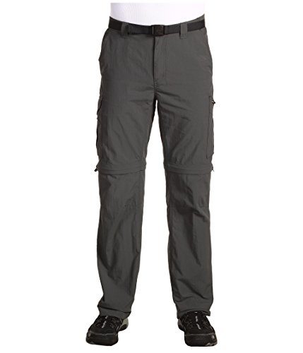 Columbia Men's Silver Ridge Convertible Pant, Breathable, UPF 50 Sun Protection, Grill, 30x34