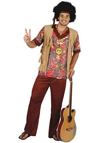 Generique - Déguisement Hippie Motif Rouge Homme XL