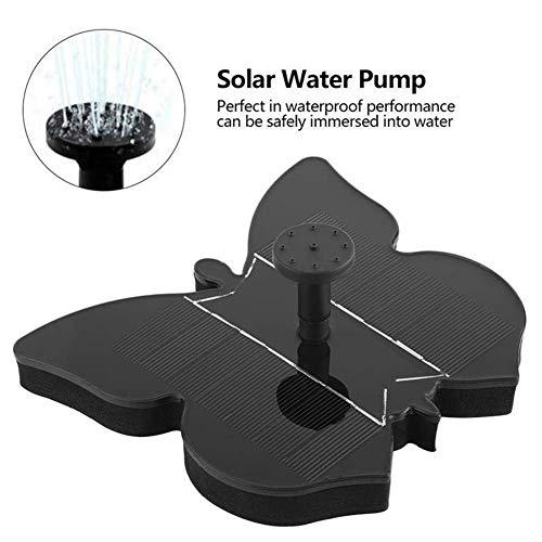 ZNSH Solar Powered Bionic-Brunnen, Neue Solarbrunnen-Wasser-Pumpen-Garten-Brunnen Gartenbewässerung Bewässerung Kit Garten Pool Landschaft Dekoration