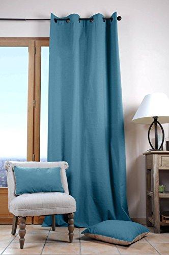 Lovely Casa Duo gordijn, 140 x 280 cm, katoen, azuurblauw