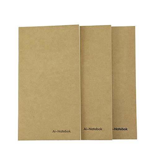 Travelers Notebook Inserts Lined Paper, Refill for Travel Journal, 7.4 X4 Inch - Set of 3-240 Pages, Supply by ai-natebok